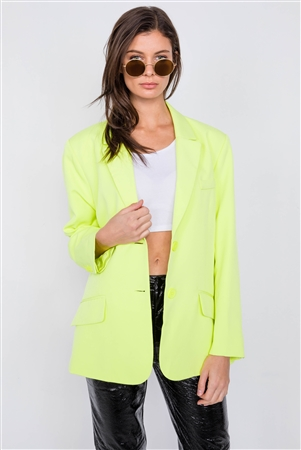 Lemonade Relaxed Fit Boyfriend Casual Blazer Jacket