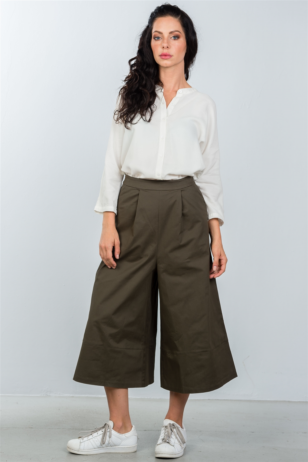 4ac3c1b52ee White Oversized Button Down Shirt Dress   5-1