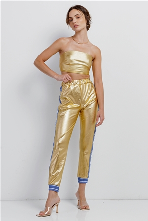 Metallic Gold Toxic Girl Strapless Track Set