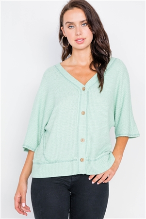 Mint Cardigan Kimono Short Sleeve Sweater