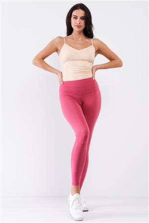 Coral Pink High-Rise Tight Fit Soft Yoga & Work Out Legging Pants /1-2-2-1