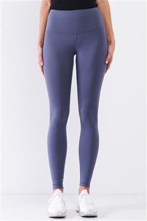 Violet Blue High-Rise Tight Fit Soft Yoga & Work Out Legging Pants /1-2-2-1
