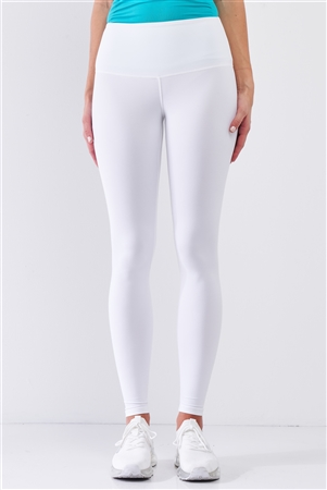 White High-Rise Tight Fit Soft Yoga & Work Out Legging Pants /1-2-2-1