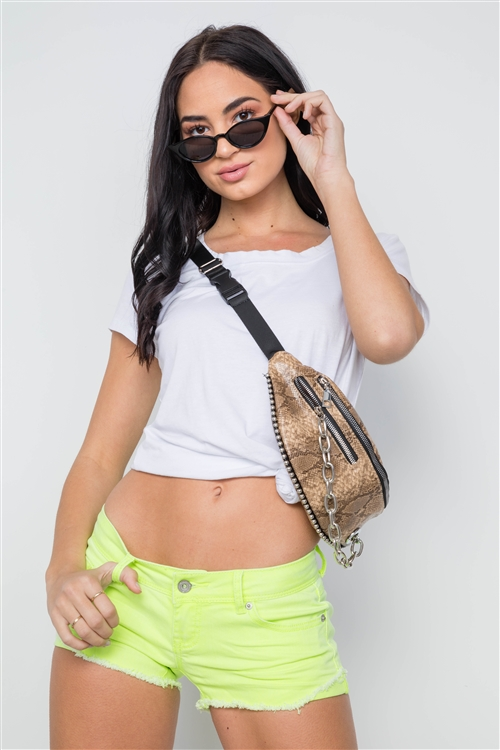Neon Lime Distressed Denim Shorts /3-2-1