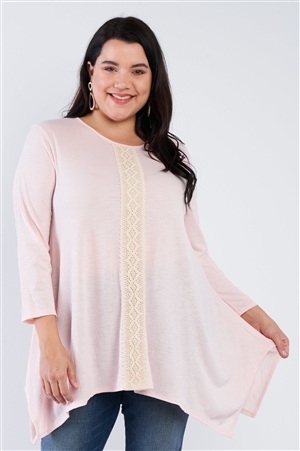 Plus Size Blush lace Top