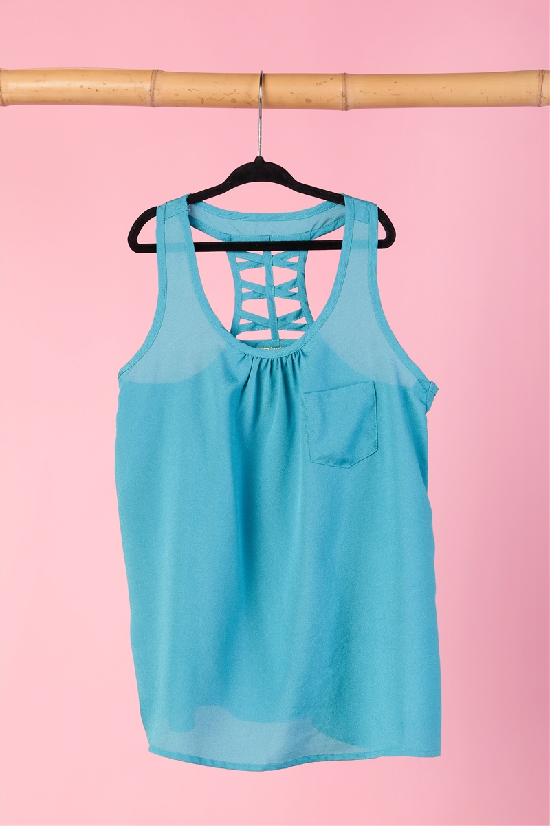 Girls Tank With Back Detail Top / 1-2-2-1