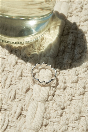 Silver Metal Circle Band Ring