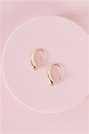 """Teardrop"" Gold Fishhook Earrings /3 Pairs"