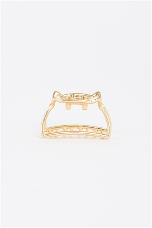 Gold Small Cat Shaped Cut-Out Hair Clip /3 Pieces