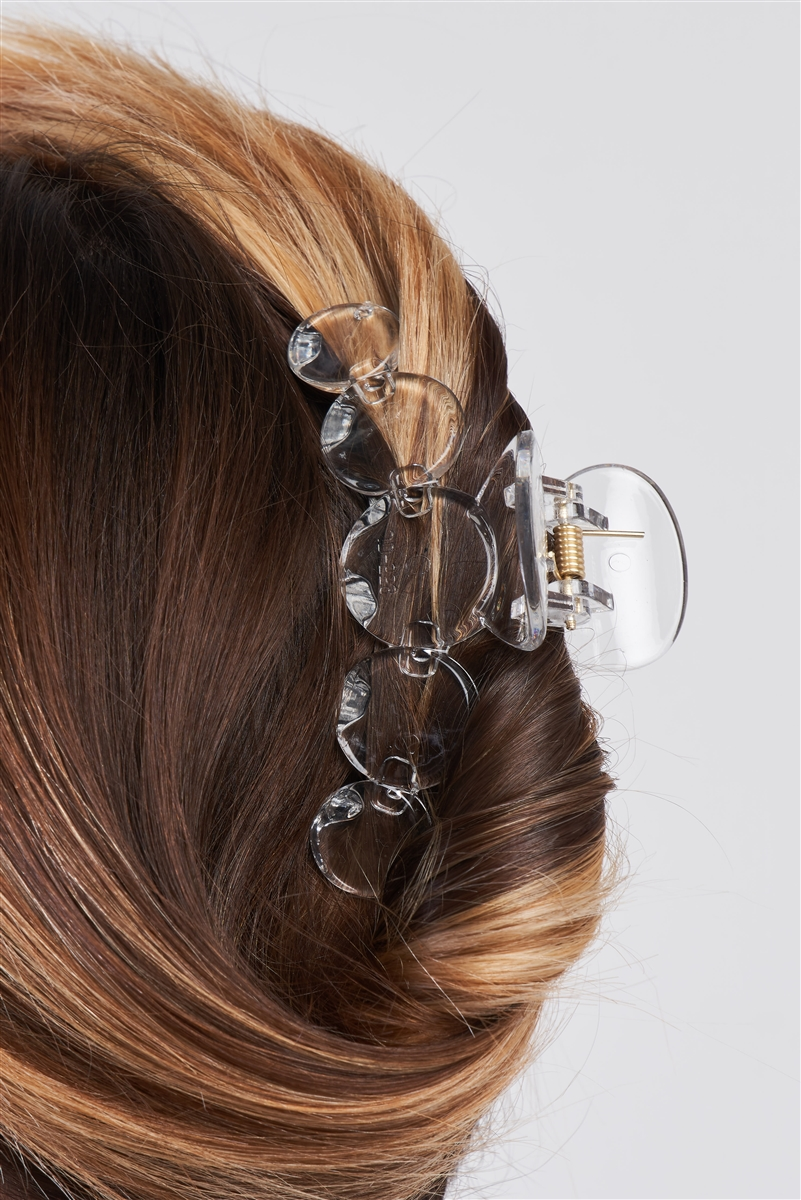 "Clear ""Bubble"" Glossy Hair Clip /3 Pieces"