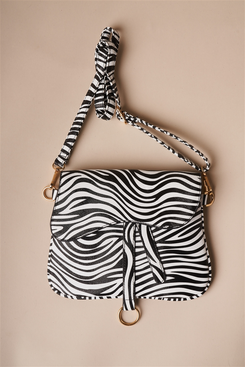 Zebra Print Retro Crossbody Bag