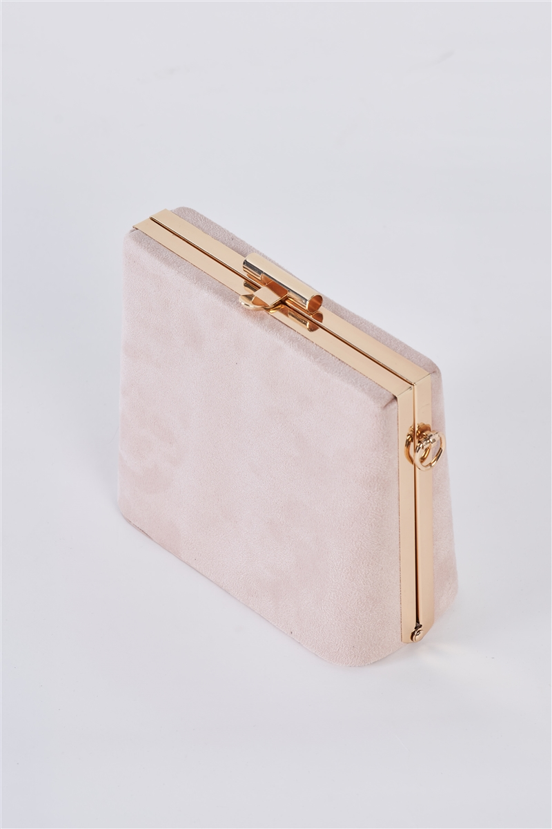 Beige Chic Suede Clutch Bag /3 Bags