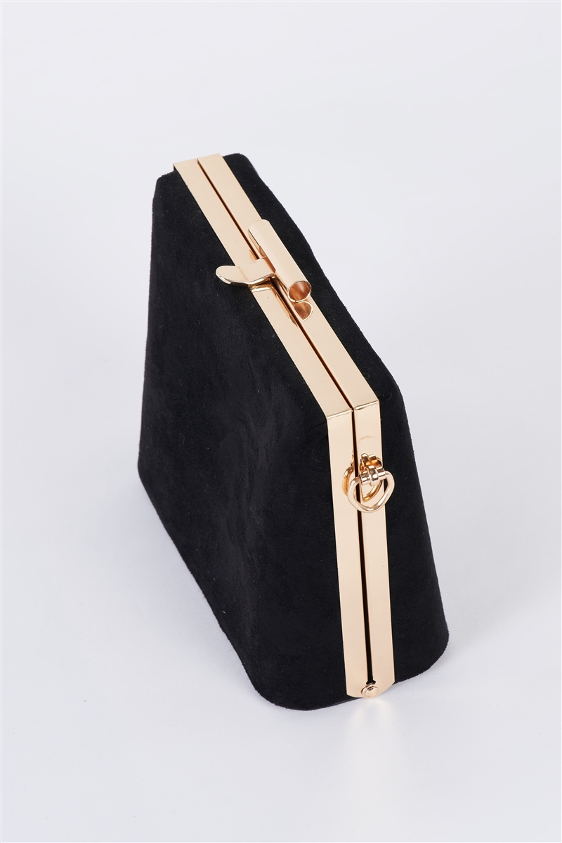 Black Chic Suede Clutch Bag /1 Bag