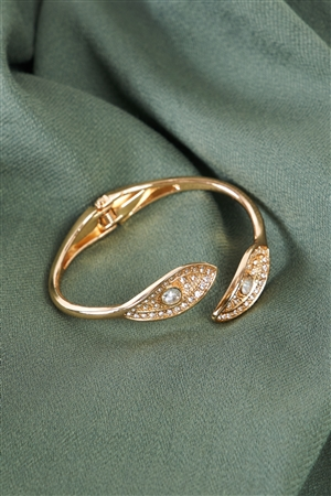 Gold Leaf Twist Bangle Bracelet/6 Pieces