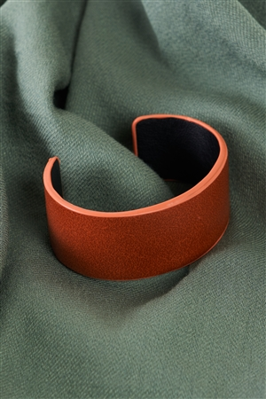 Camel Faux Leather Wide Cuff Bracelet /6 Pieces