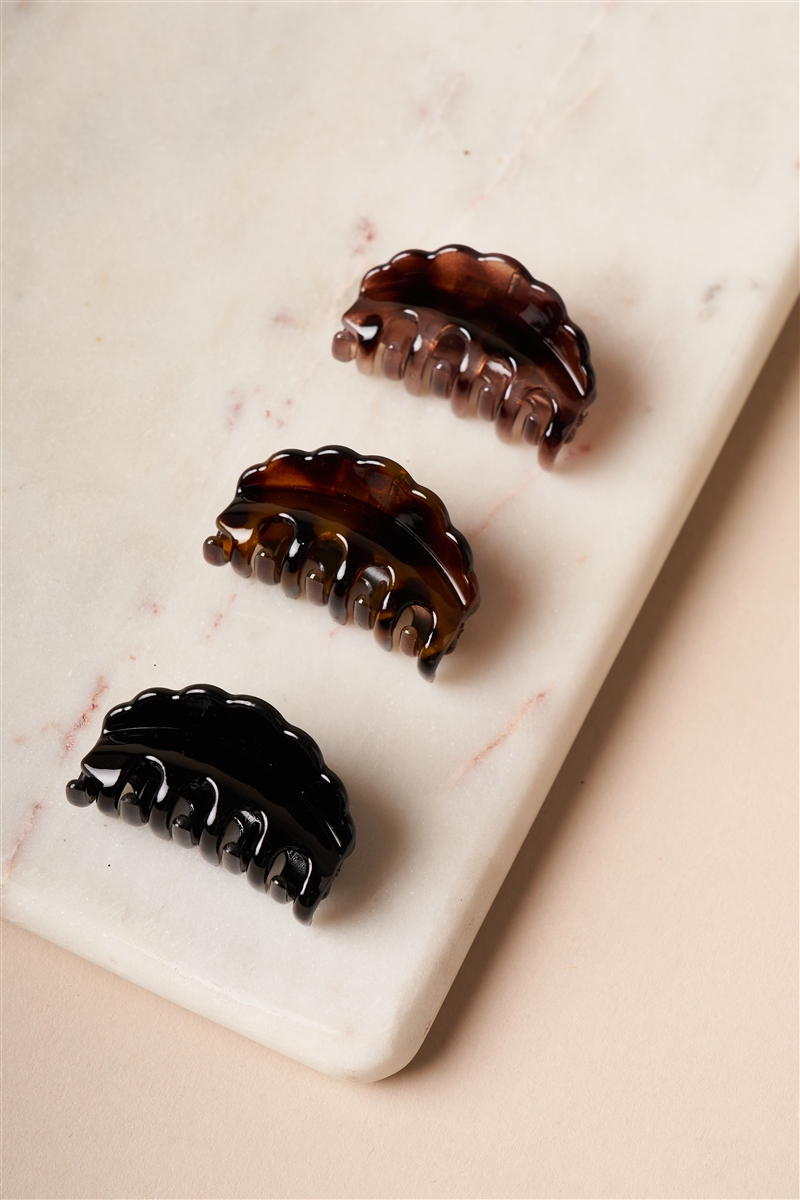 Brown And Black Mini Butterfly Clips