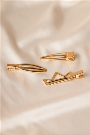 Gold Crown Shaped Clips