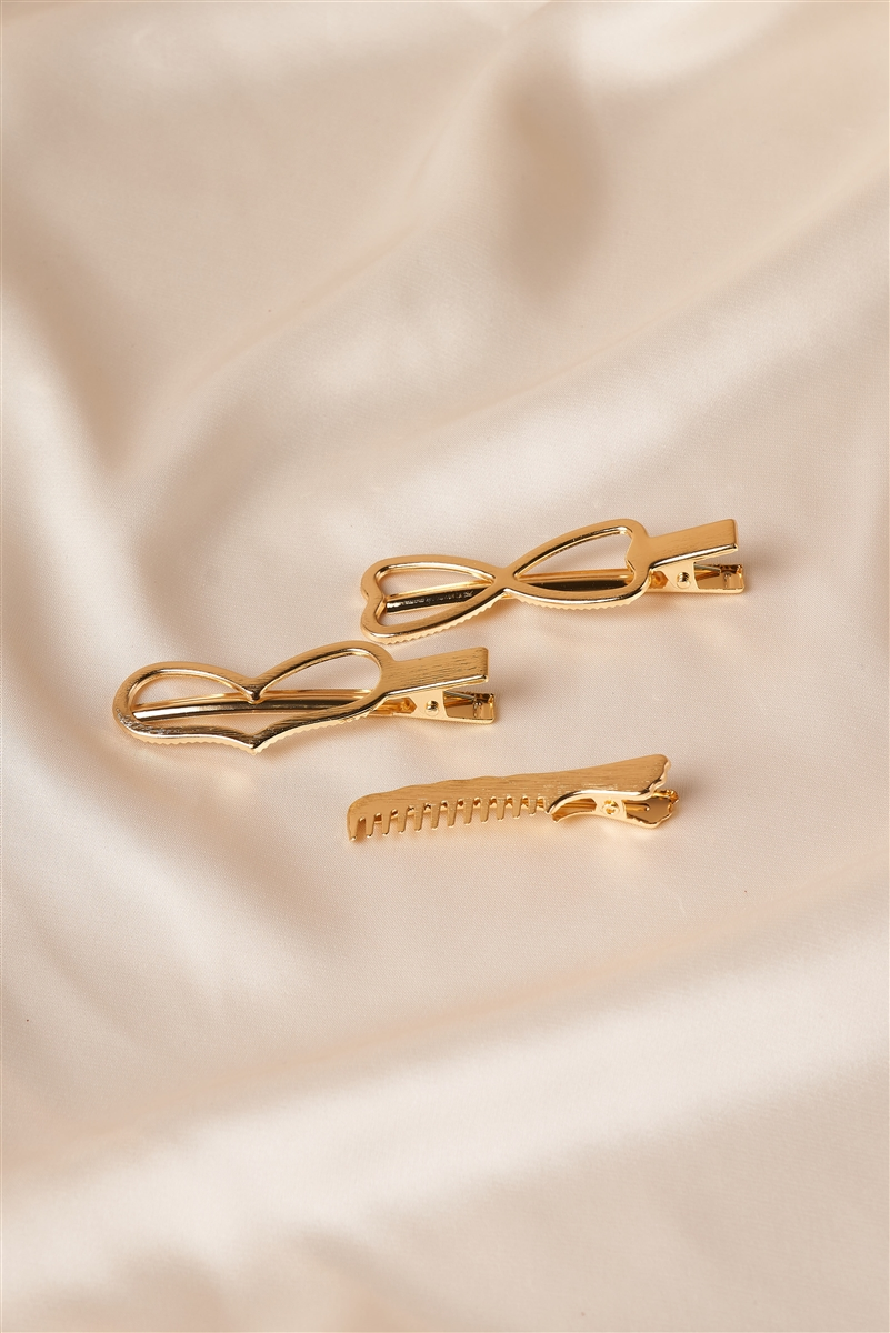 Gold Heart Shaped Clips