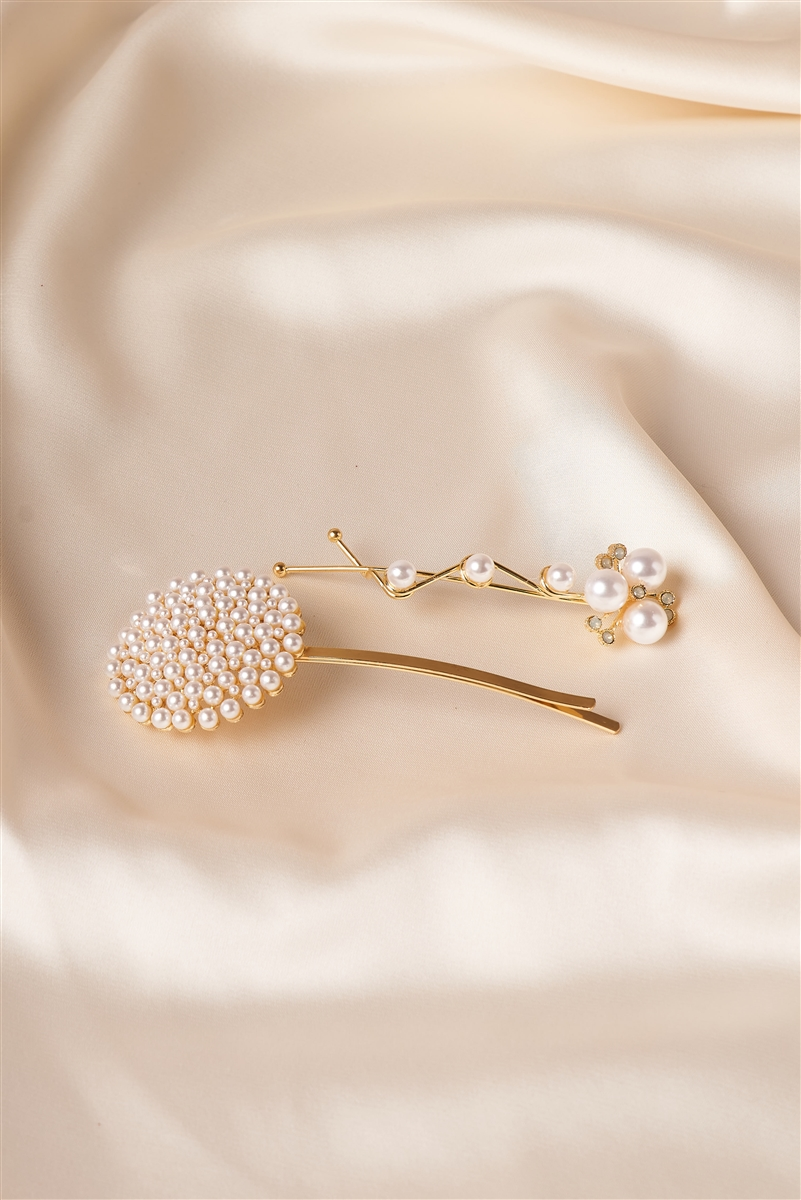 Gold Pearled Elegant Style Bobby Pins