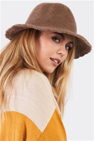 Khaki Scallop Edge Woven Panama Hat /3 Pieces