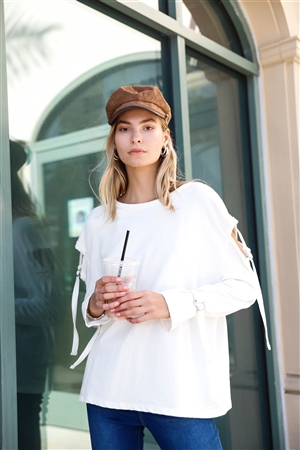 Camel Braided Cabby Hat