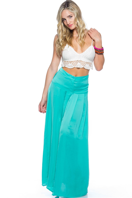 Aqua long line maxi satin skirt