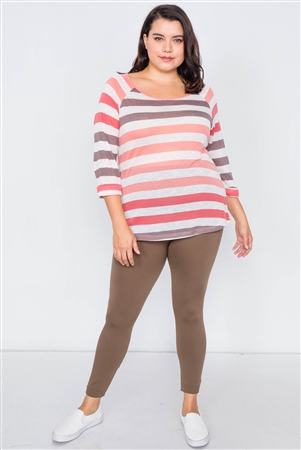 Junior Plus Size Olive Leggings - One Size