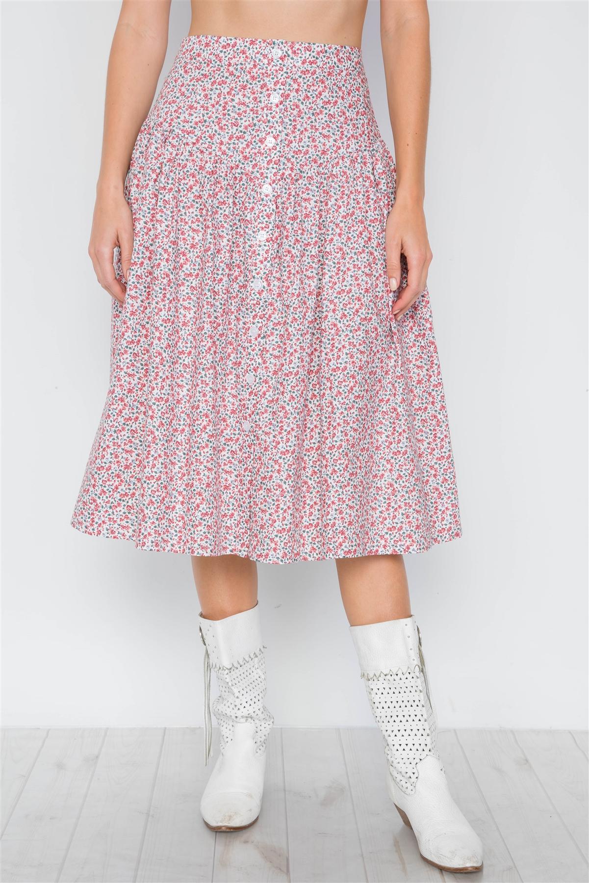 4e49eac16b76 Printed High Waisted Skirt - ShopStyle