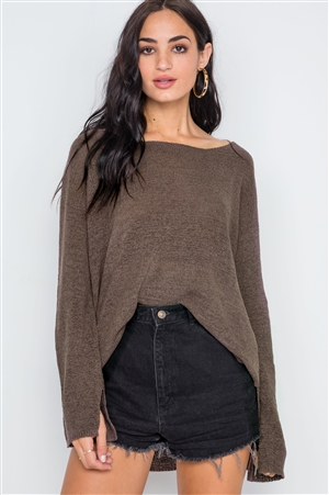 Coco Scoop Neck Long Sleeves Sweater