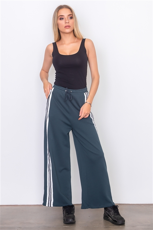 Green Side Tape French Terry Pants