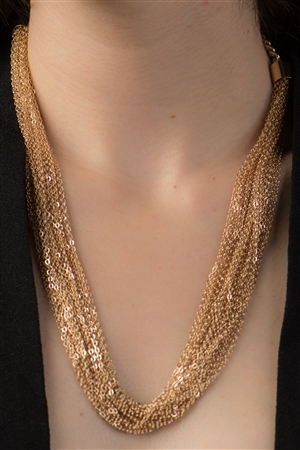 Gold Twisted Chains Necklace
