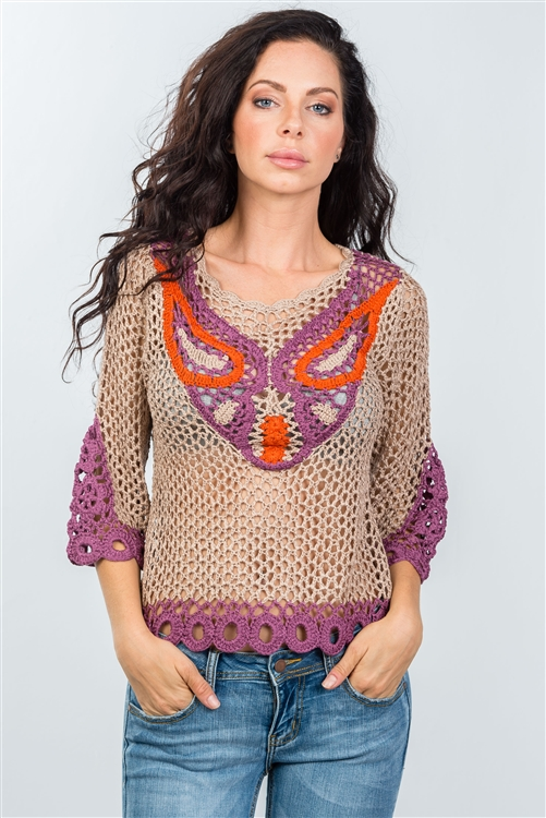 Bohemian Mocha Knitted Top