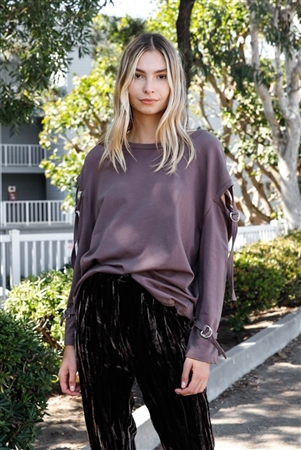 Cocoa Long Sleeve Cut-Out Sweater