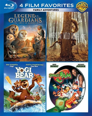 4 Film Favorites: Kids and Family Collection - Legend Guardians / Where the Wild Things Are / Yogi Bear / Space Jam