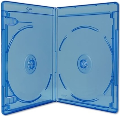 Empty 4-Disc (2 Double Stack Holders) Viva Elite Blu-ray Cases (12.5mm)