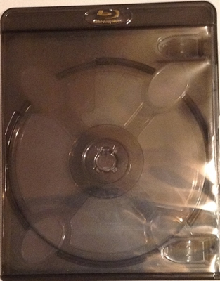 Empty 2-Disc Clear Black Vortex Blu-ray Case (11mm)