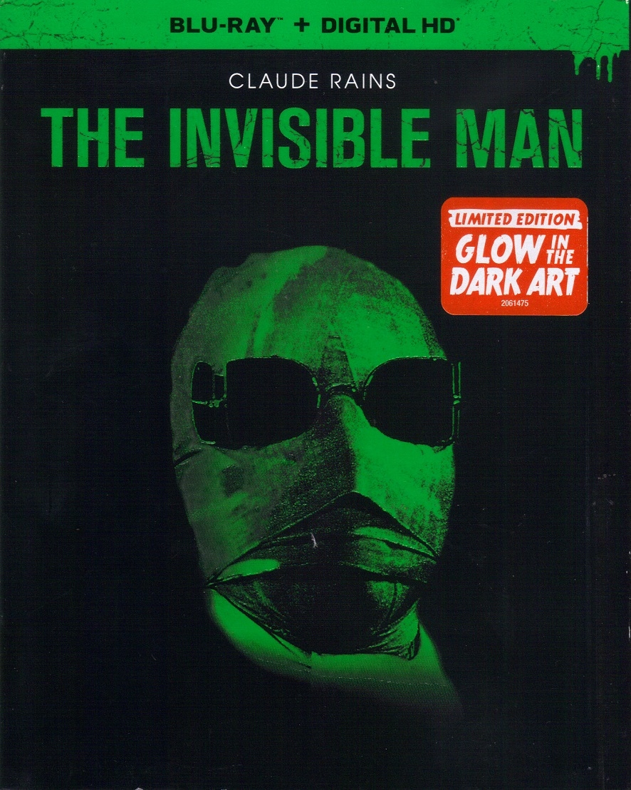 The Invisible Man w/ Glow in the Dark Slip (BD + Digital Copy)(Exclusive)
