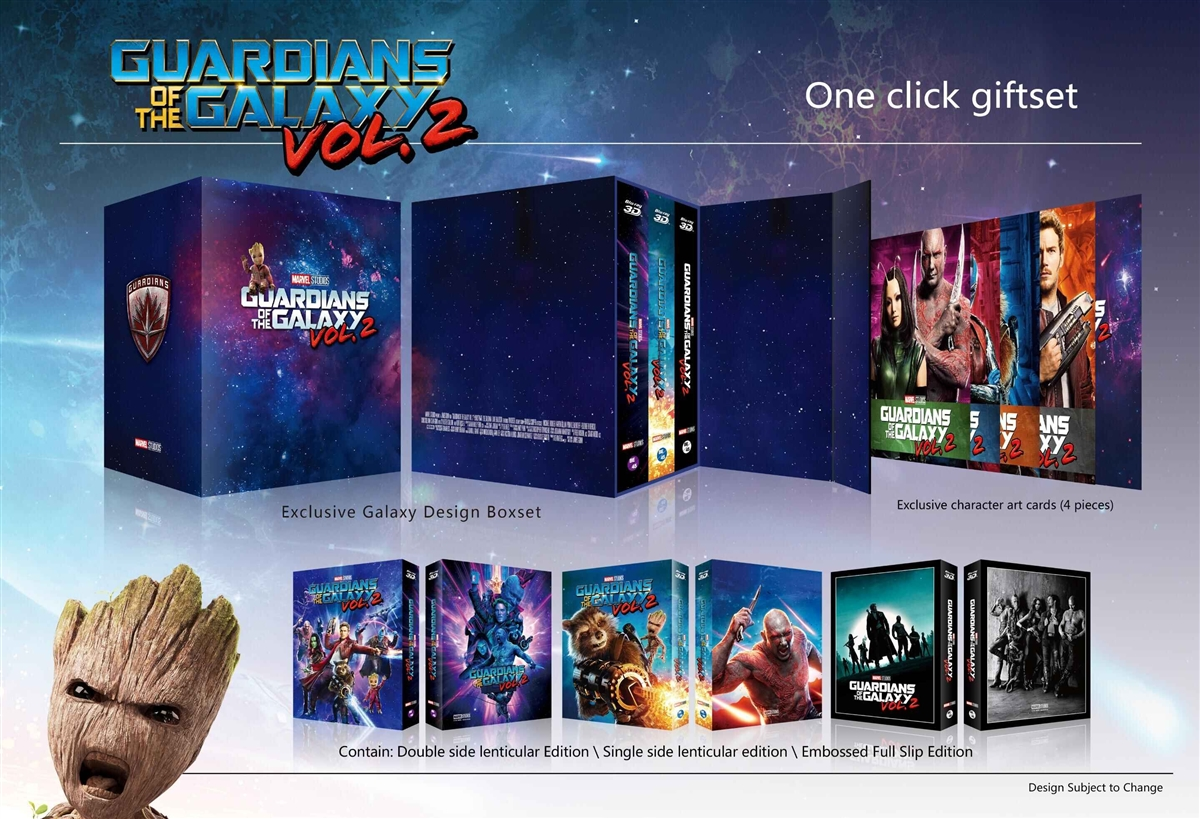 Guardians Of The Galaxy Vol 2 3d 1 Click Steelbook Blufans 45