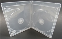Empty 2-Disc Clear Viva Elite w/ Blu-ray Logo Case (12.5mm)