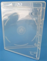 Empty 1-Disc Clear Viva Elite w/ Blu-ray Logo Case (12.5mm)