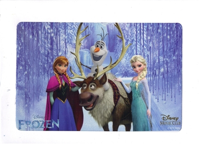 Frozen Disney Movie Club Lithograph