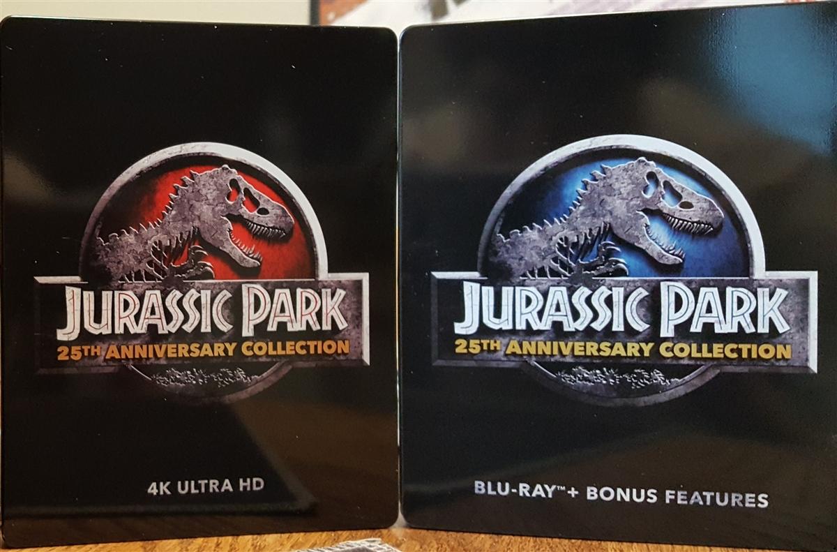 Jurassic Park 25th Ann Collection 4k Steelbook Jurassic Park Jurassic Park Ii The Lost World Jurassic Park Iii Jurassic World Bd Digital Copy Exclusive