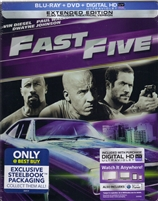 Fast Five: Extended Edition SteelBook (Re-release)(BD/DVD + Digital Copy)(Exclusive)