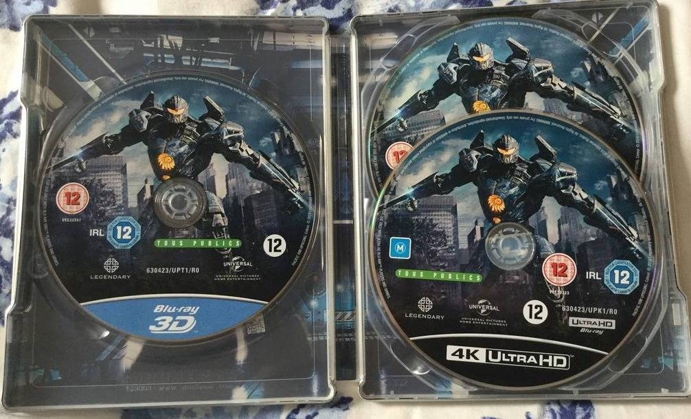 Pacific Rim: Uprising 3D & 4K SteelBook (BD + Digital Copy)(UK)