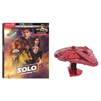 Solo: A Star Wars Story 4K DigiPack w/ Millenium Falcon Figurine (BD + Digital Copy)(Exclusive)