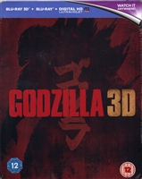 Godzilla 3D SteelBook (BD + Digital Copy)(UK)(2014)(Exclusive)
