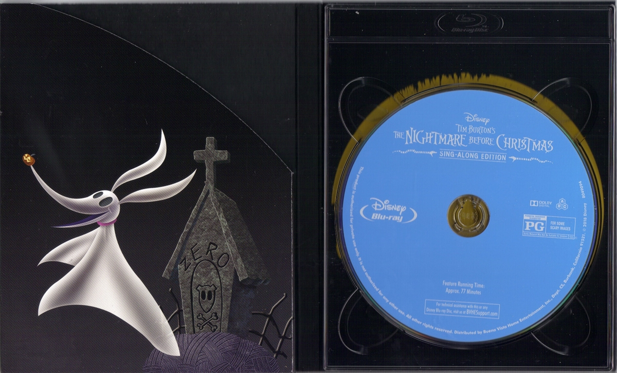 the nightmare before christmas sing along edition digipack bd digital copyexclusive - Nightmare Before Christmas Runtime