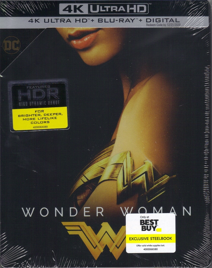 Wonder Woman 4k Steelbook Re Release 2017 Bd Digital Copy Exclusive