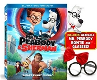Mr. Peabody and Sherman w/ Wearable Bowtie & Glasses (BD/DVD + Digital Copy)(Exclusive)