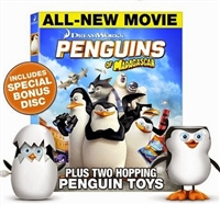 Penguins of Madagascar w/ Bonus Disc & 2 Poppin' Penguins Toys (BD/DVD + Digital Copy)(Exclusive)